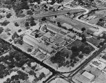 Parkland Hospital on Maple Avenue, aerial view, before 1943