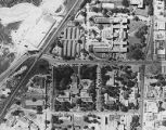 Parkland Hospital on Maple Avenue, aerial view, circa 1944