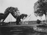 St. Paul Sanitarium on Bryan Street, tents for influenza patients