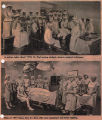 St. Paul School of Nursing students in operating room, 1918 and 1971