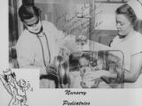 Parkland Hospital on Maple Avenue, doctor and nurse with baby in glass incubator