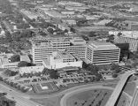 St. Paul University Hospital, aerial view, circa 1995